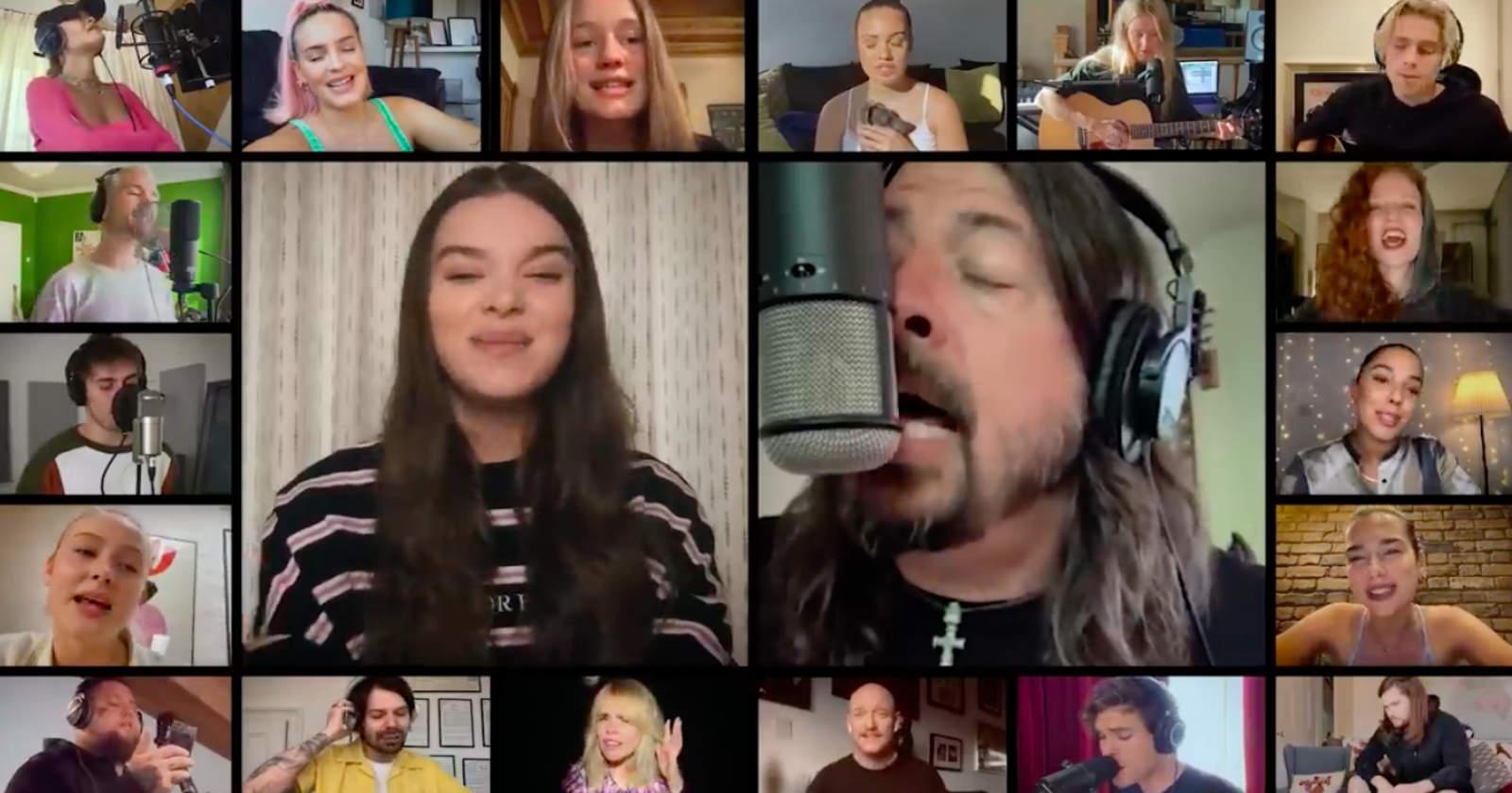 VIDEO | Más de 20 artistas se unieron en benéfico cover de