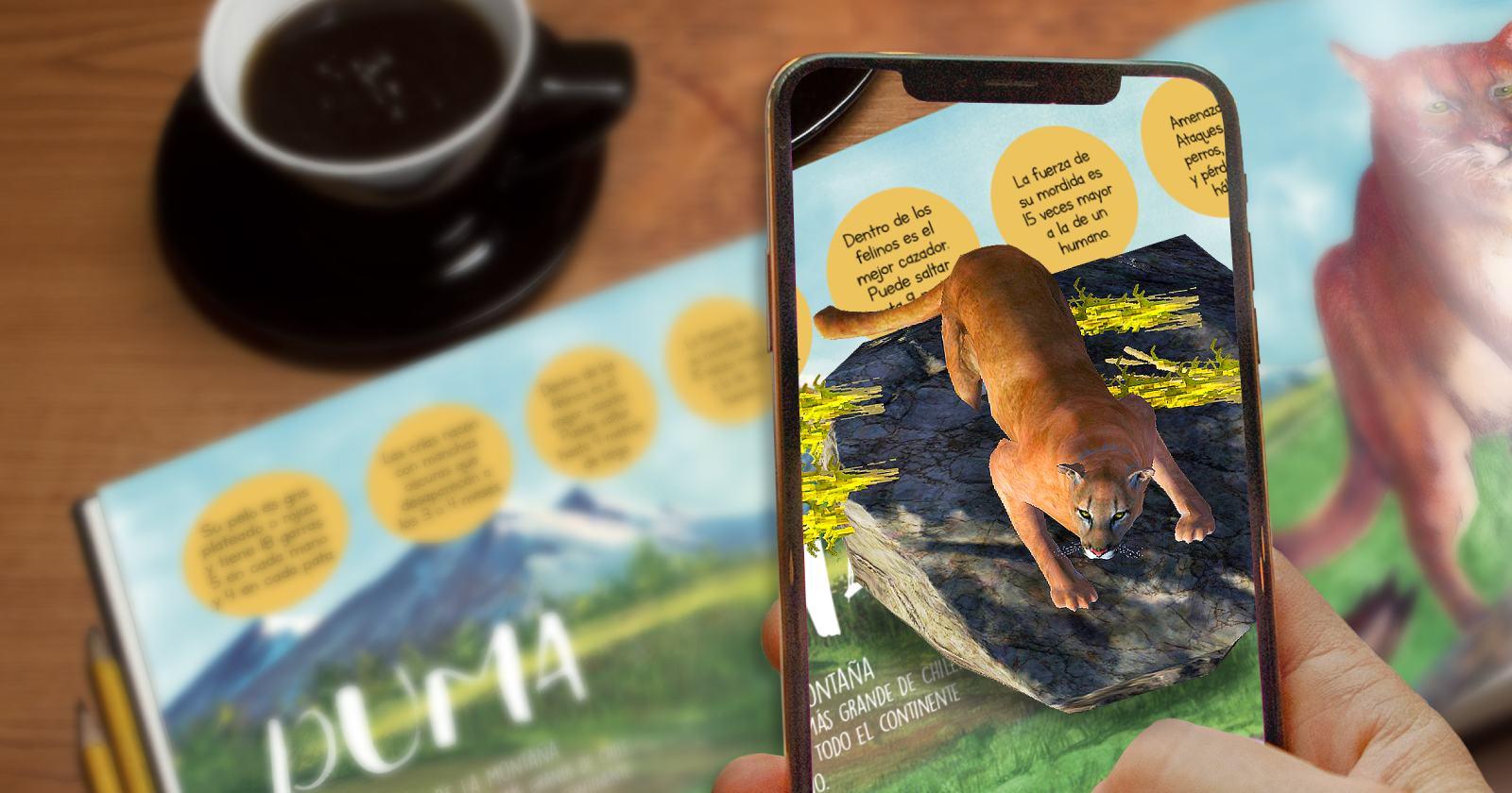 Nuevo libro infantil en 3D incentiva en la protección de animales chilenos en riesgo