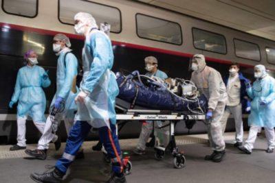 Coronavirus: Francia traslada a pacientes graves en trenes de alta velocidad