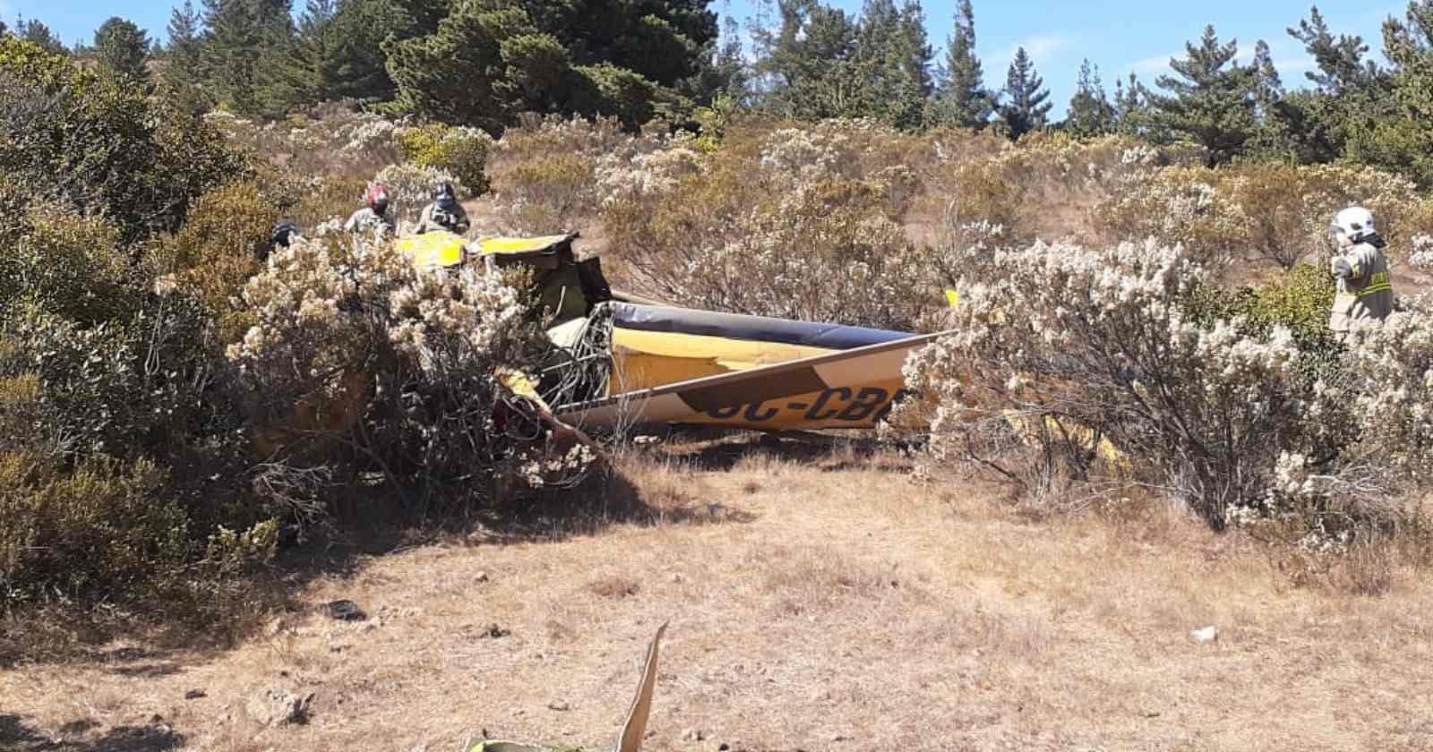 """""""Combatía incendio forestal en el Maule: un fallecido tras caída de helicóptero"""""""