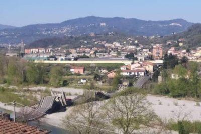 Confinamiento evita una tragedia en Italia: se derrumbó puente