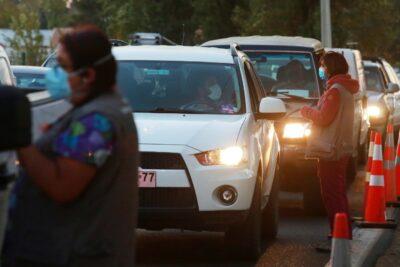 Más de 24.000 automovilistas dejaron Santiago a horas de cuarentena total