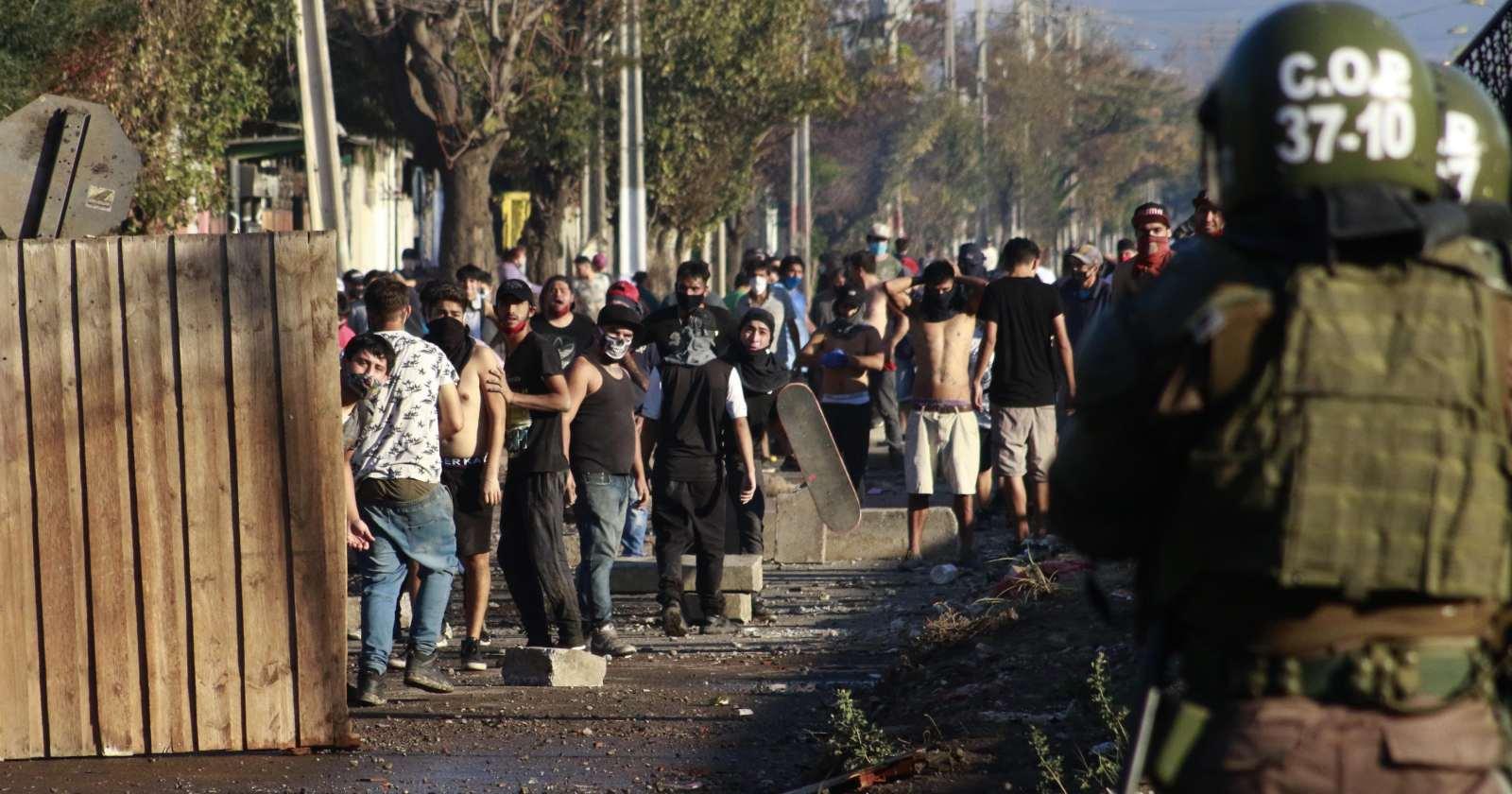 Manifestaciones y protestas en medio de cuarentena en Santiago