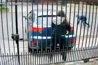 VIDEO | Ladrones iban con mascarilla: detective de la PDI frustra a balazos portonazo en su casa en Maipú
