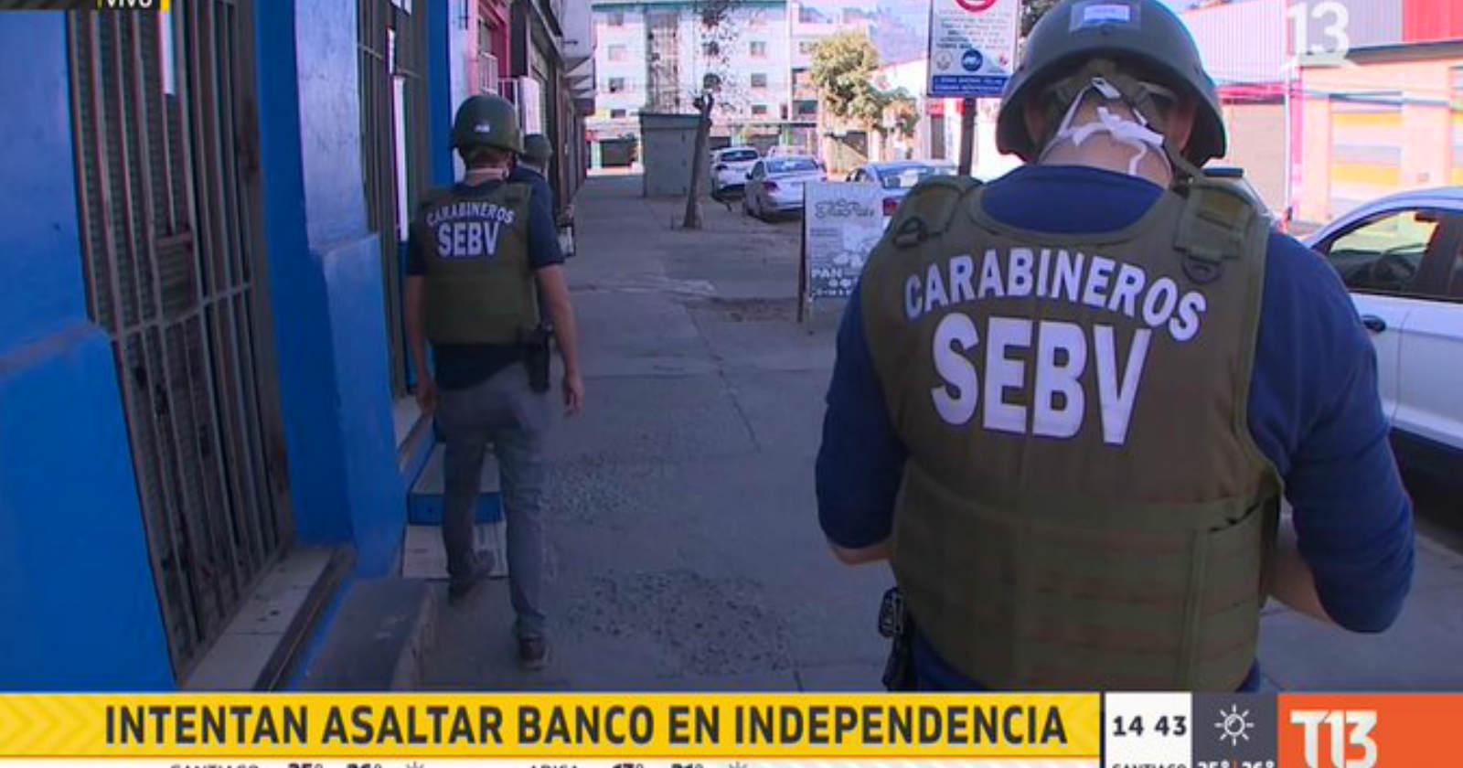"""""""Operativo policial en Independencia por sujeto armado al interior de un banco"""""""