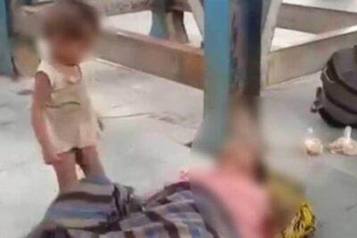Crisis migratoria en India: dramático video muestra a niño intentando despertar a su madre muerta en una estación de trenes