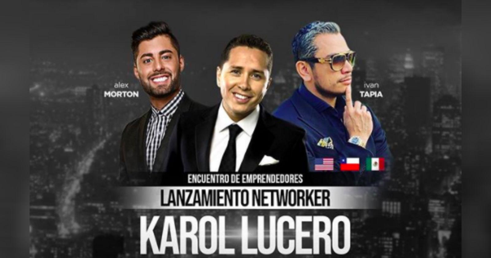 Karol Lucero es acusado de participar en estafa piramidal con nuevo emprendimiento