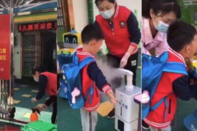 VIDEOS | Así volvieron al colegio los niños en China