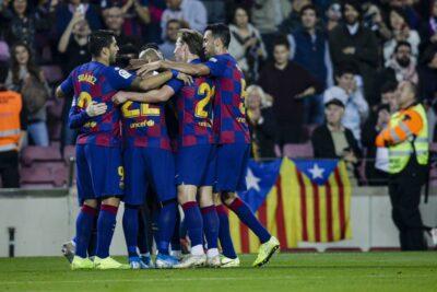 Arturo Vidal ingresó en el segundo tiempo para la victoria de Barcelona sobre Leganés