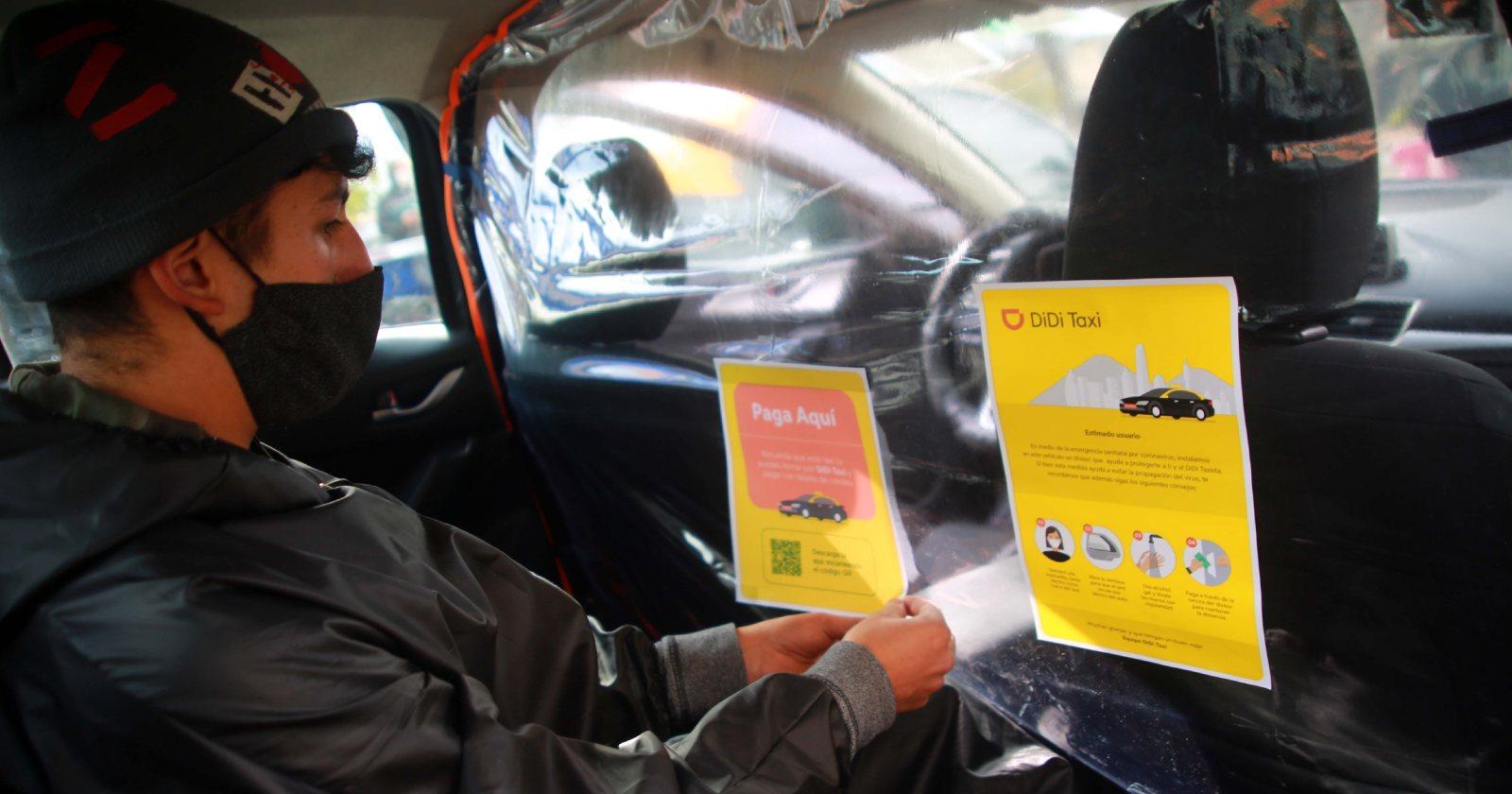 Jadue implementa separadores para evitar contagios al interior de taxis