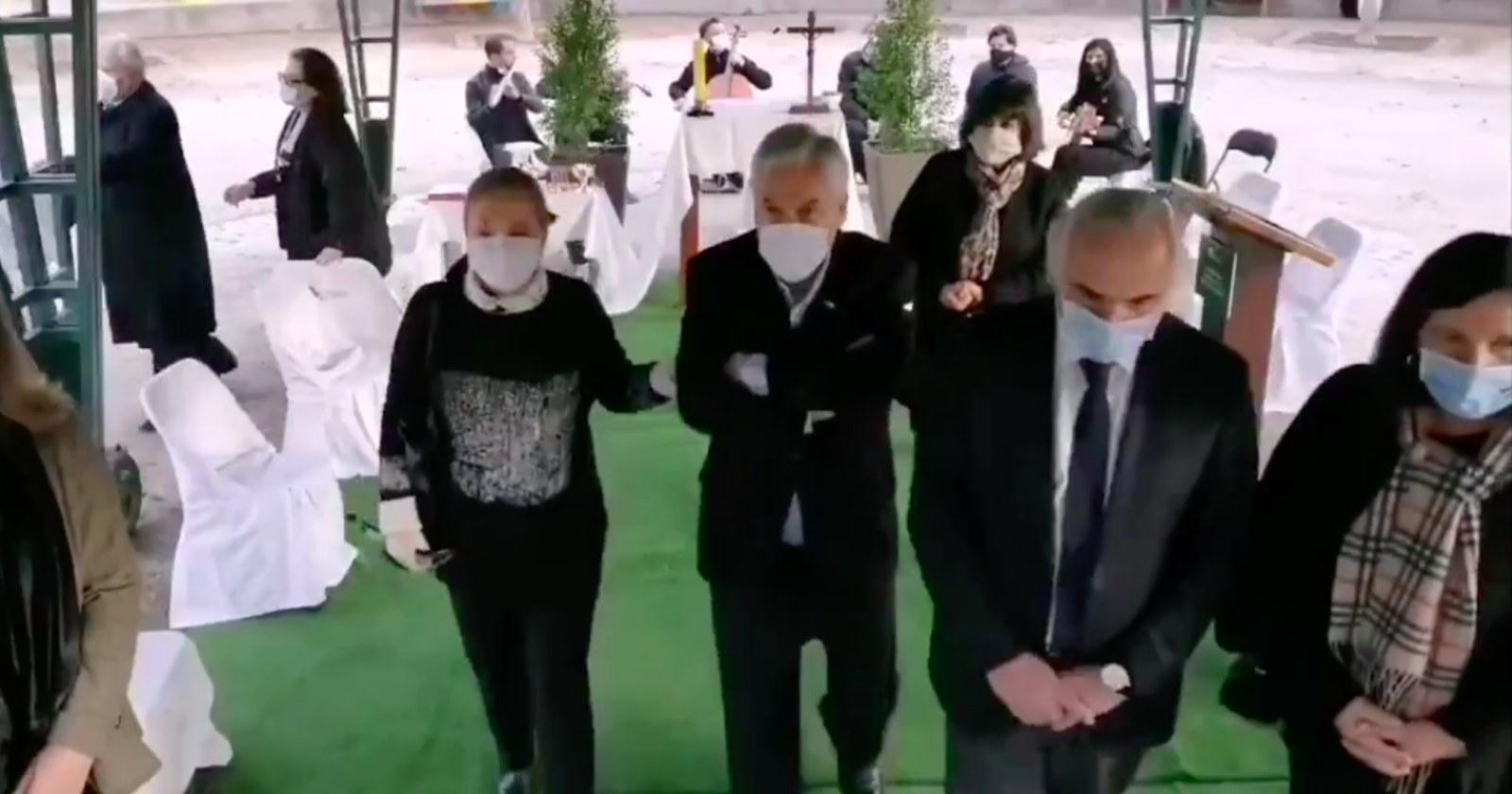 Los puntos del protocolo sanitario que no se respetaron en el funeral de Bernardino Piñera