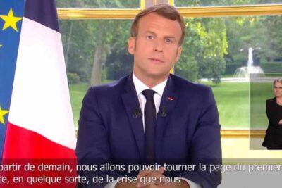 """Emmanuel Macron declara """"victoria"""" contra el coronavirus y anunció reapertura de bares y restaurantes"""