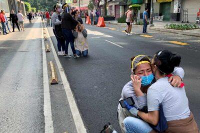 Los primeros registros que dejó el terremoto de 7,7° en México