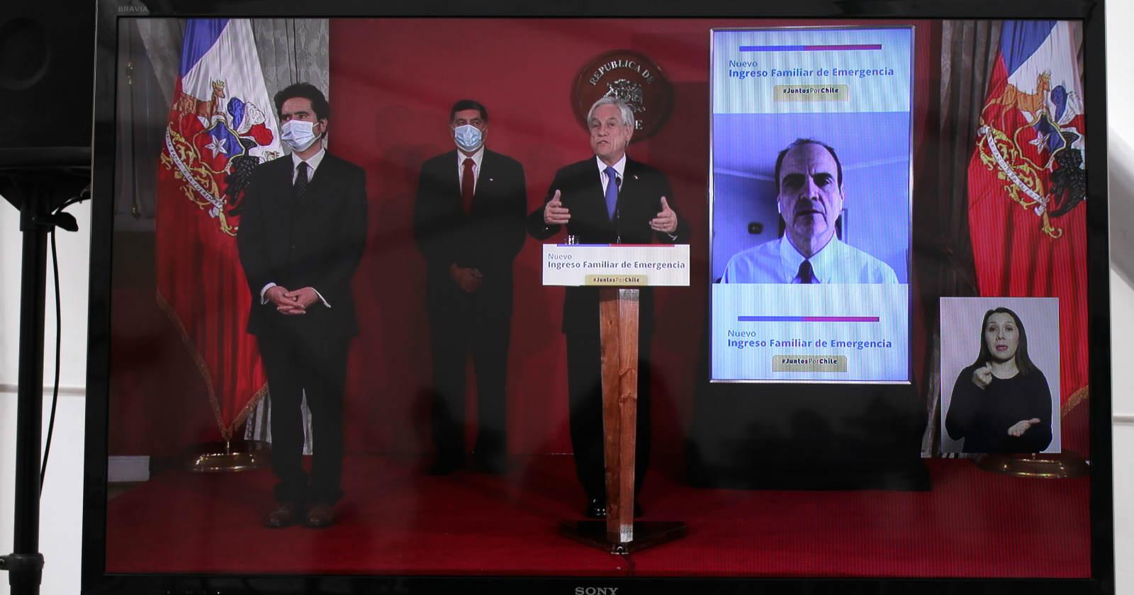 Piñera firma proyecto de ley que amplía el Ingreso Familiar de Emergencia