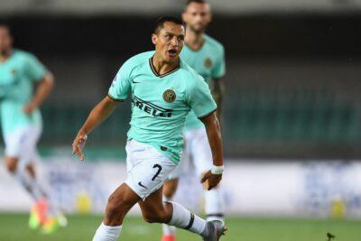 Alexis Sánchez fue titular en empate de Inter de Milán ante Hellas Verona
