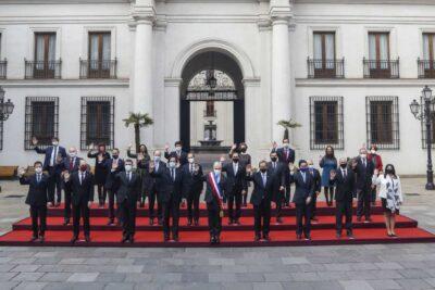 Con mascarilla y sin emblemáticos: la inédita foto oficial de la Cuenta Pública en medio de la pandemia