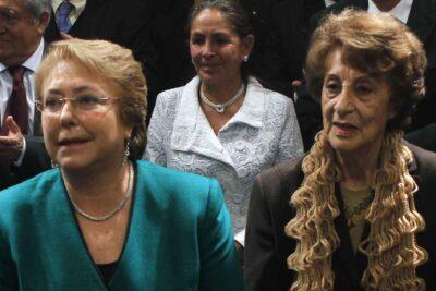 A los 93 años murió Ángela Jeria, madre de la ex Presidenta Michelle Bachelet