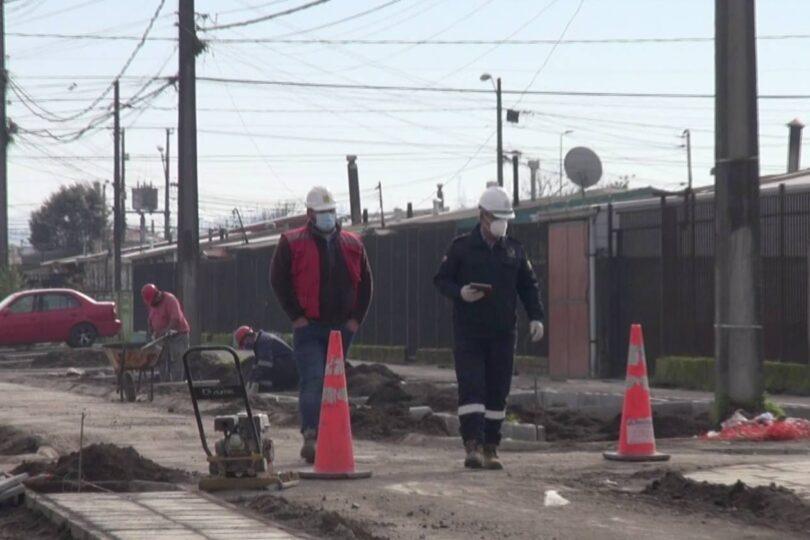 Siguen avanzando los proyectos de mejora en barrios de Hualpén pese a la pandemia