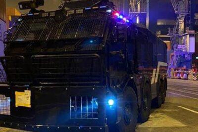 """""""Fue adquirido el año pasado"""": Gobierno explica llegada de nuevo carro lanzaaguas al puerto de San Antonio"""