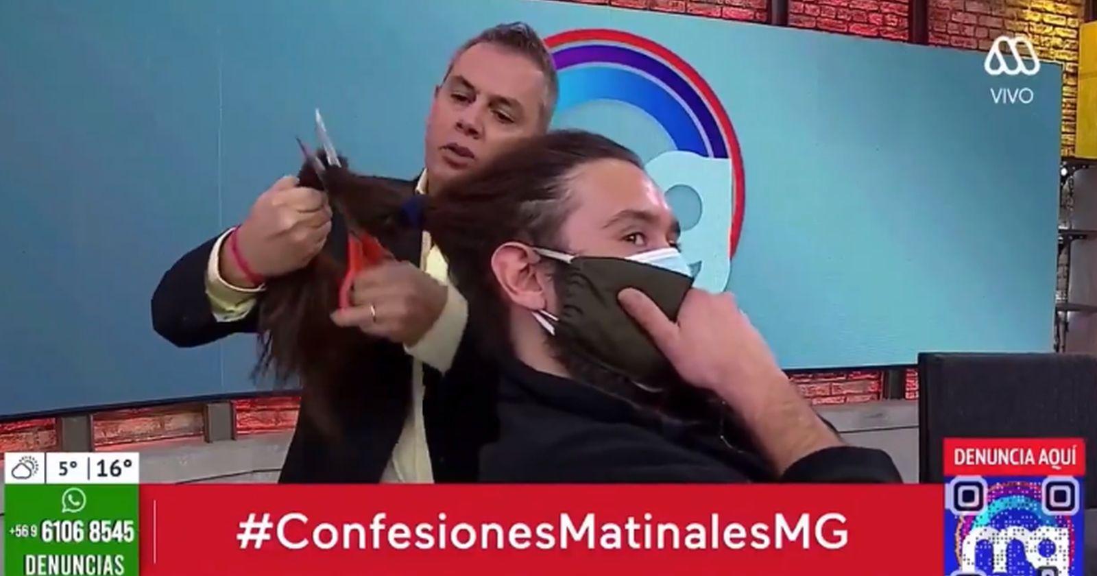 VIDEO - José Miguel Viñuela le cortó el pelo a un camarógrafo en pleno matinal