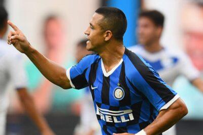 Alexis Sánchez brilló junto con el Inter en goleada sobre Brescia