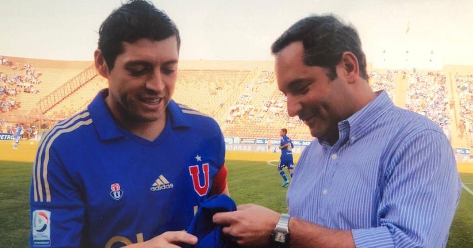 Johnny Herrera y Pepe Rojas felicitaron a Cristián Aubert por su llegada a la presidencia de Azul Azul