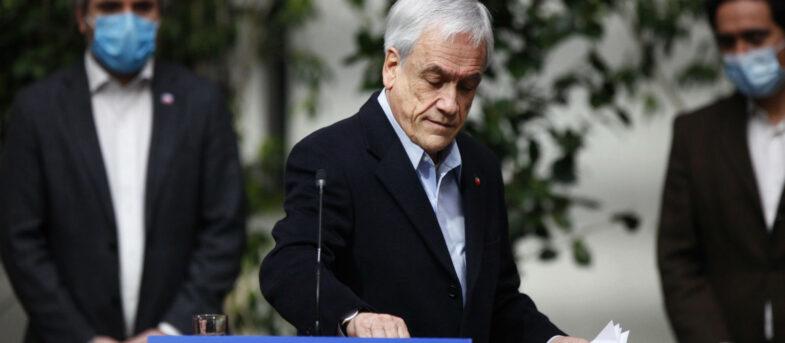 Encuesta Cadem: aprobación de Sebastián Piñera cae diez puntos en dos semanas