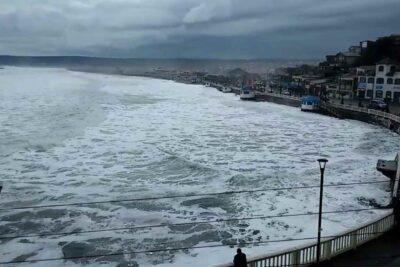 """Playa Grande de Cartagena """"desaparece"""" en medio de intensas marejadas"""