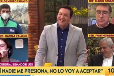 """VIDEO – """"Justo me están llamando"""": el chascarro de Iván Moreira mientras hablaba de la crisis en la UDI"""