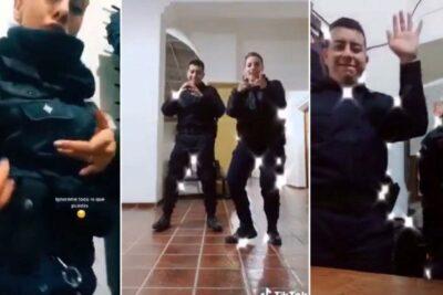 VIDEO – Sancionan a tres policías por grabarse en Tik Tok dentro de una comisaría de Argentina