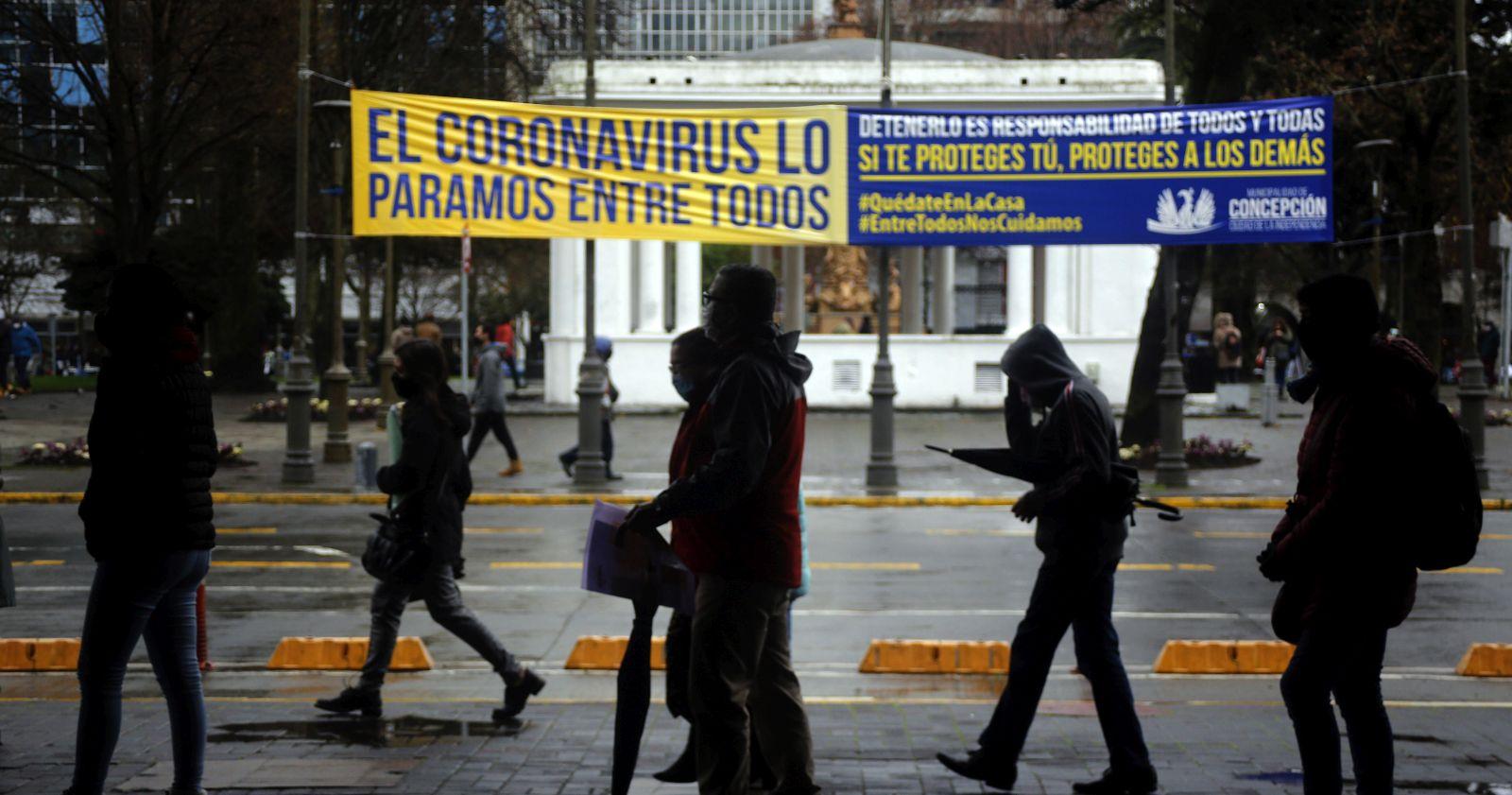 La evolución de la pandemia que obligó a confinar a Concepción