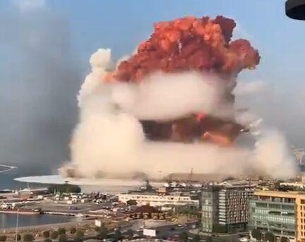 VIDEO – Estos los registros más impactantes de la explosión en Beirut