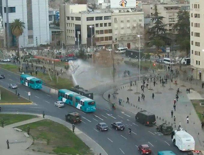 VIDEO – Gustavo Gatica: protestas en Plaza Italia por formalización de ex carabinero