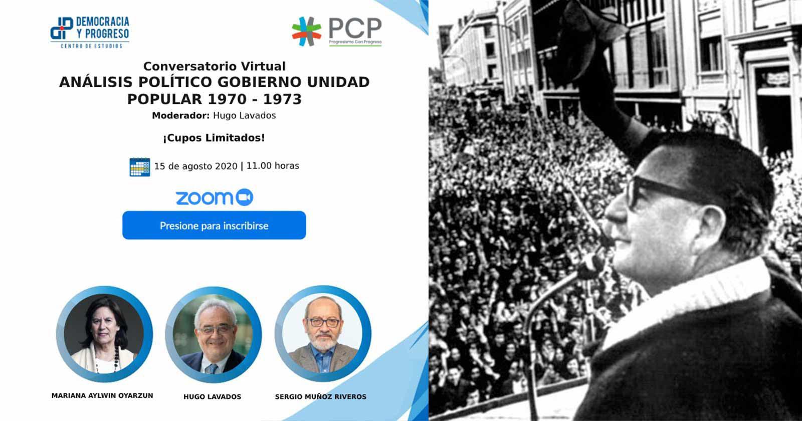 Conversatorio virtual: análisis político del gobierno de la Unidad Popular