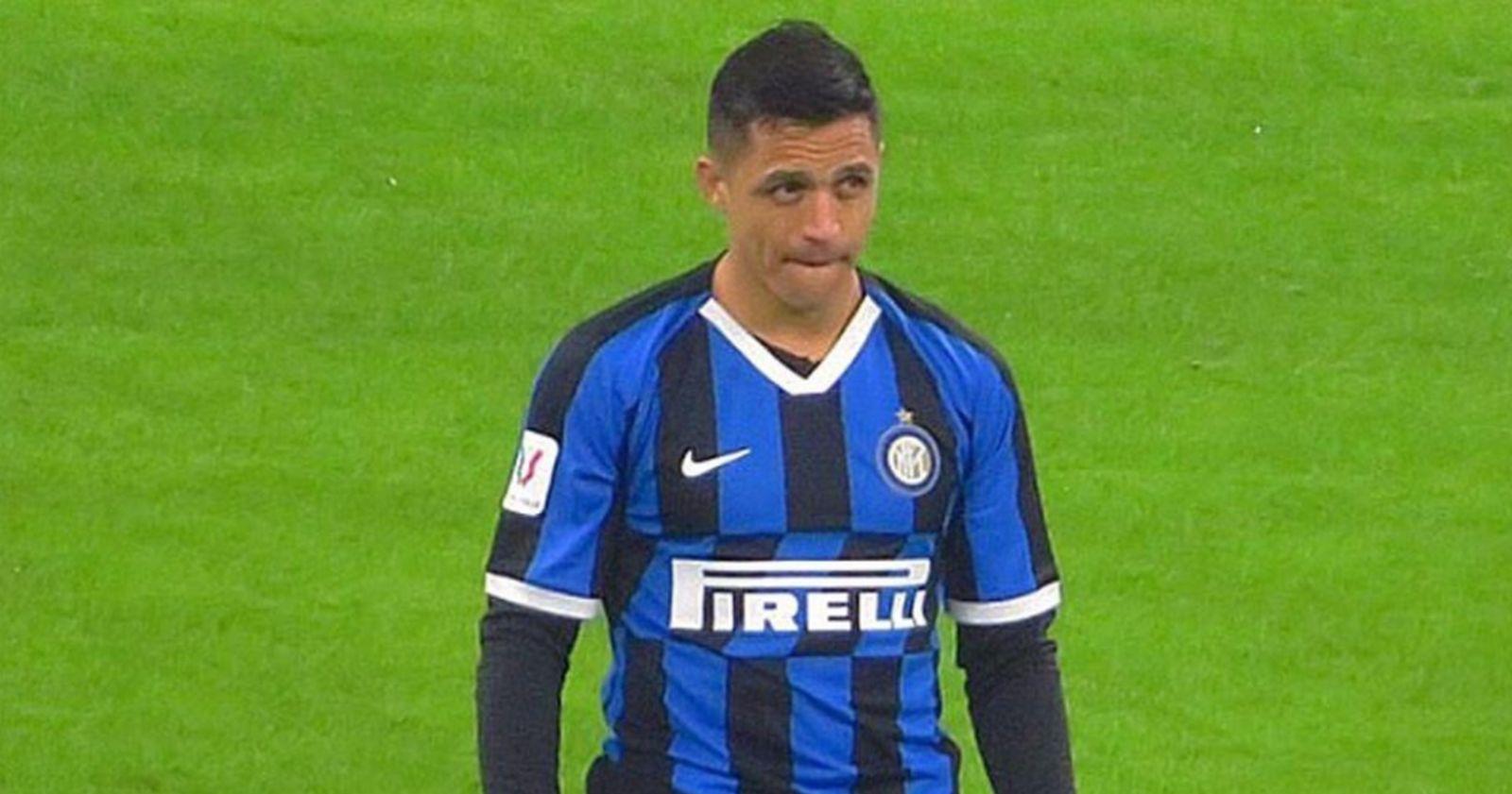 Alexis jugó los últimos minutos en la caída de Inter ante Sevilla por la final de Europa League