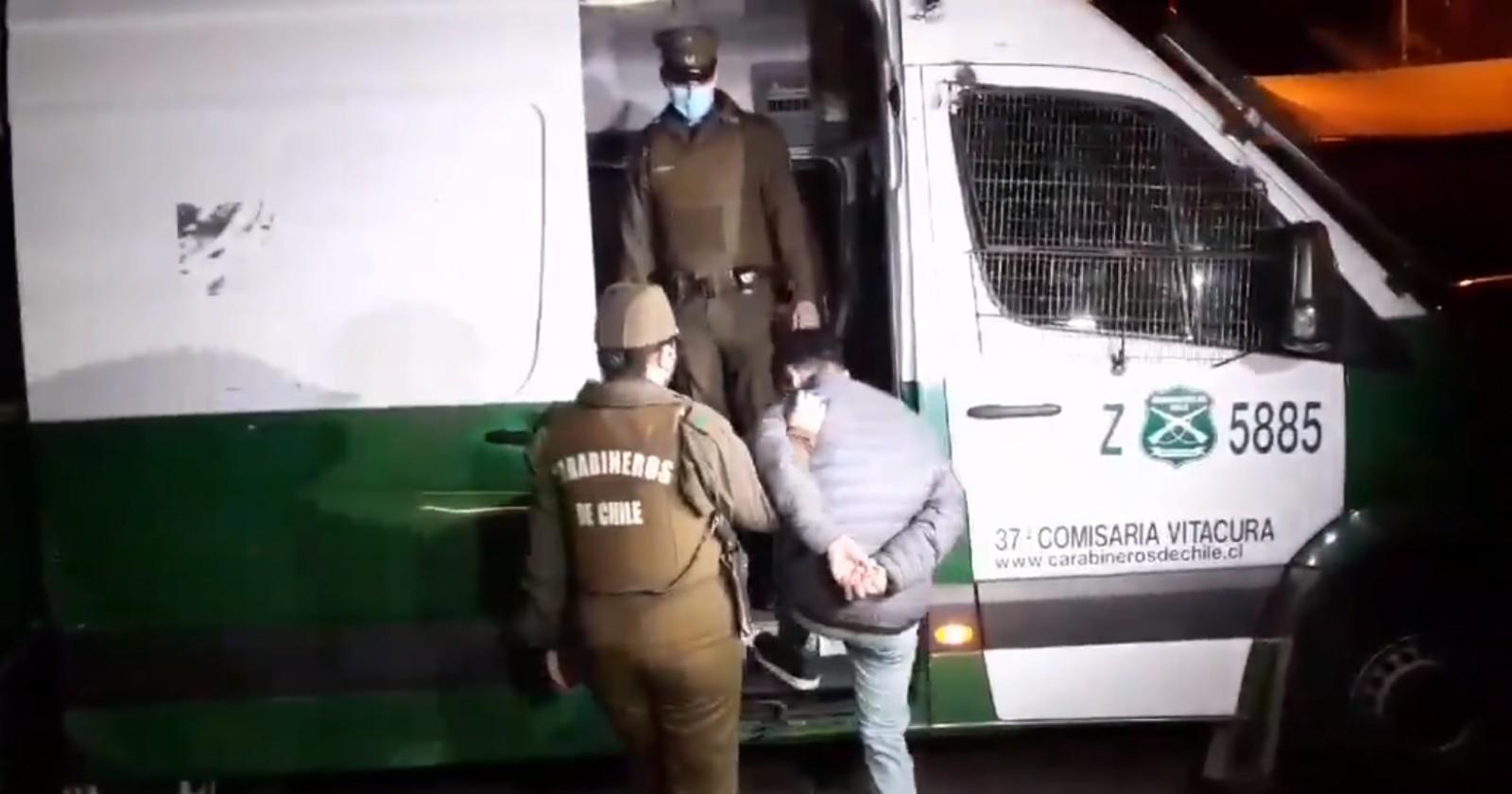 Vitacura: violento robo de vehículo de alta gama terminó con cuatro detenidos