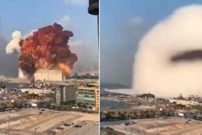 VIDEOS – Gigantesca explosión destruyó zona del puerto de Beirut