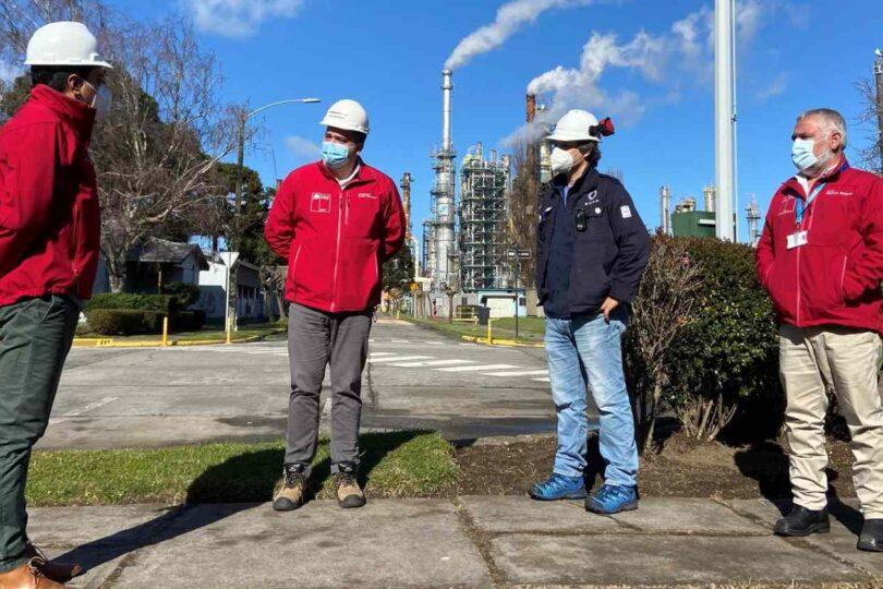 Visita de intendente Giacaman da inicio a las operaciones de Enap Refinería Bío Bío tras mantenimiento