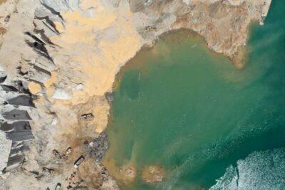 Explosión en Beirut dejó un crater de 43 metros de profundidad y 124 de ancho