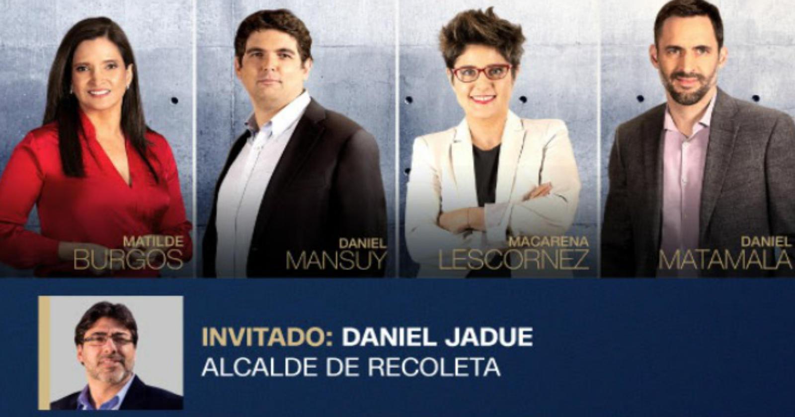 Daniel Jadue será el invitado de esta semana en Tolerancia Cero