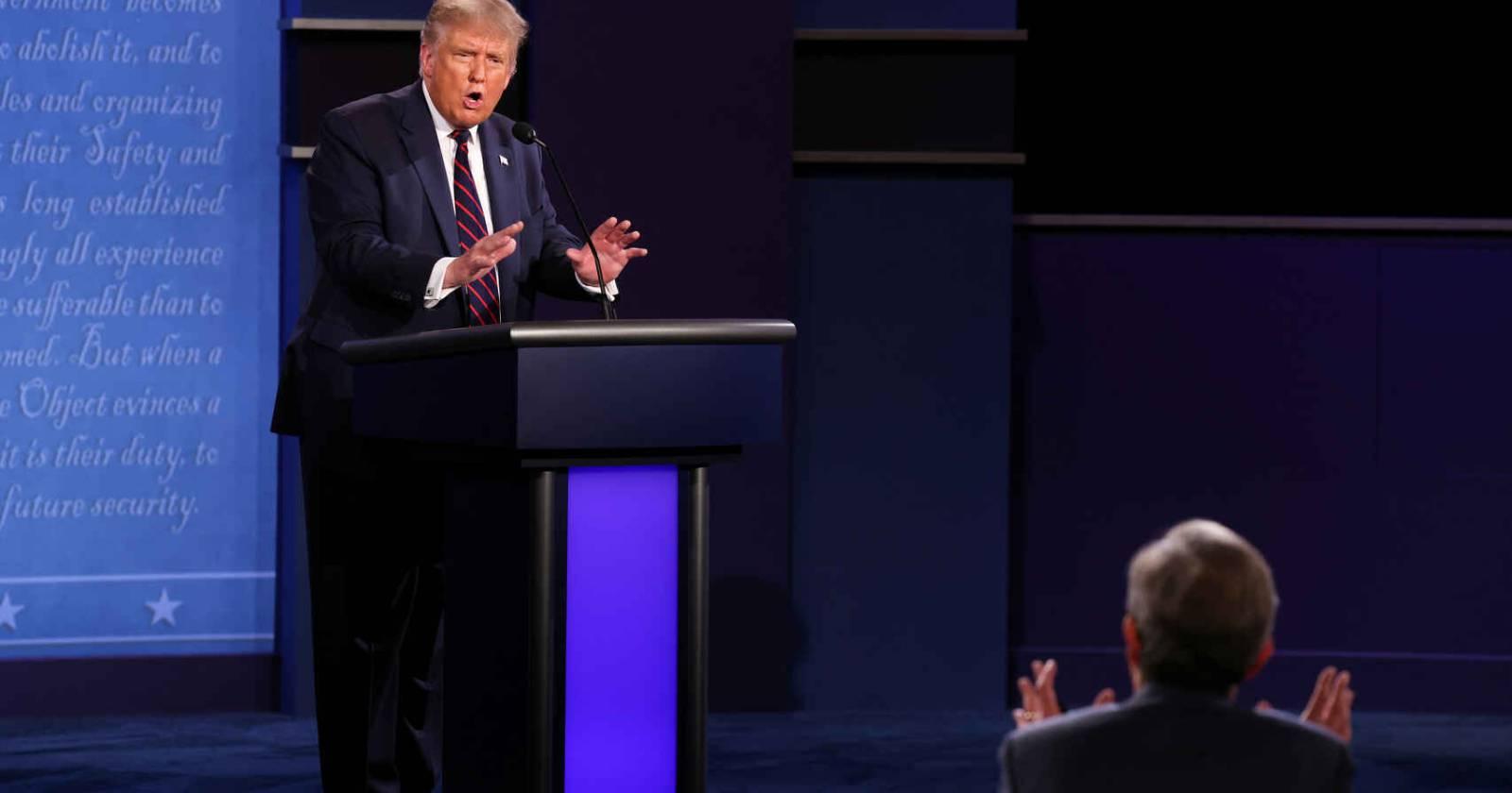 Los momentos más tensosdel debate entre Biden y Trump