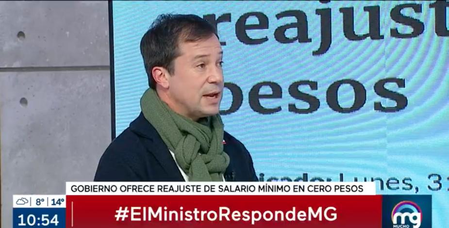 """VIDEO – Lucas Palacios y sueldo mínimo: """"Si una persona vive sola y gana $320 mil, le puede alcanzar sin problemas"""""""