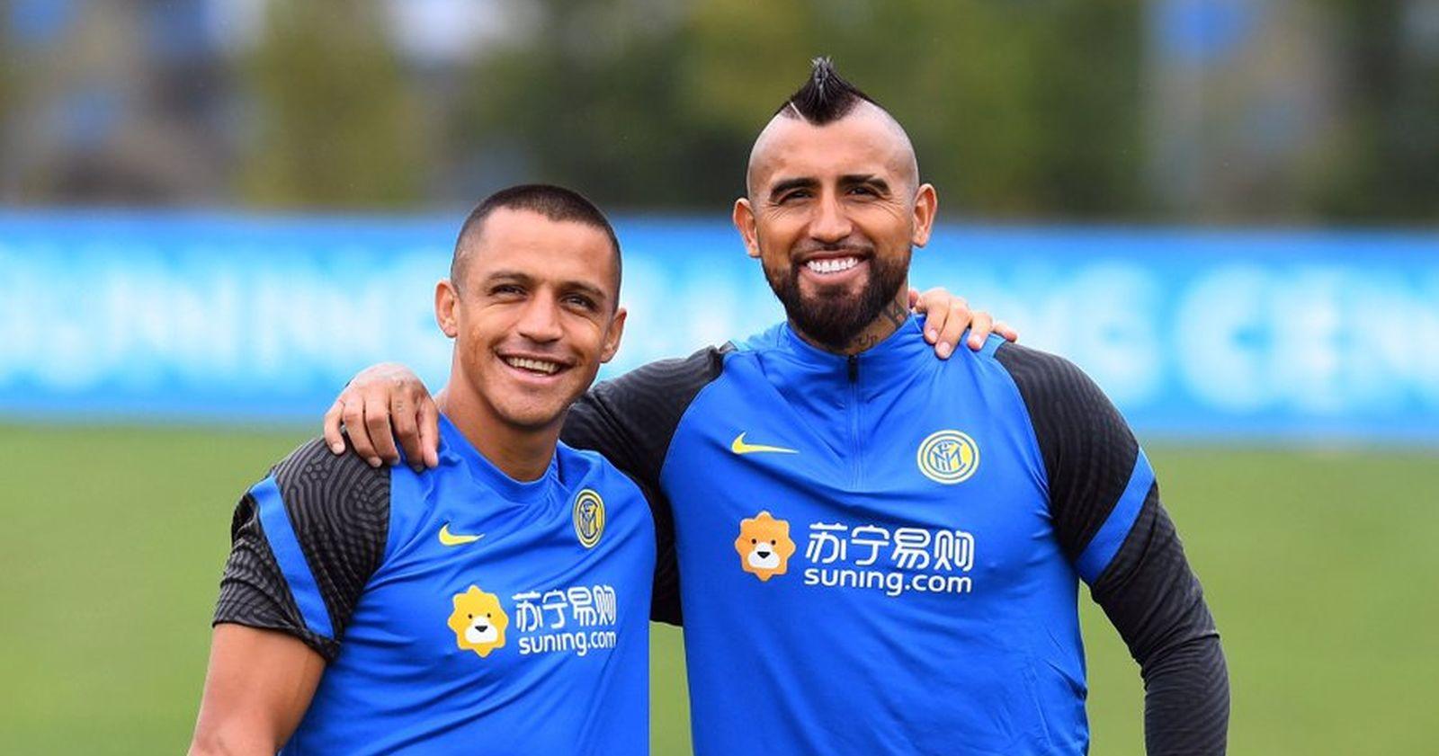 Arturo Vidal se reunió con Alexis Sánchez en su primer entrenamiento con el Inter