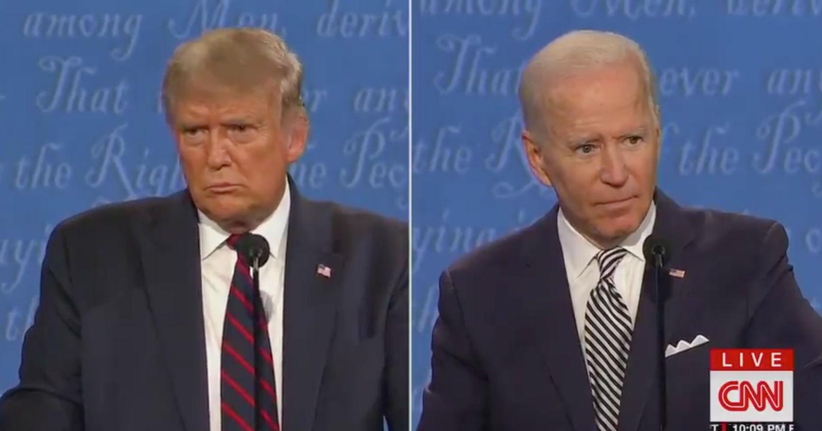 Así reaccionaron las celebridades al comentado debate de Trump y Biden