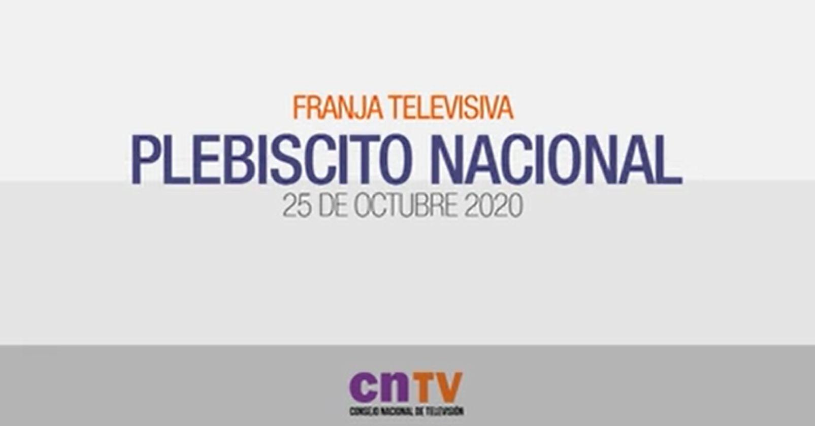 VIDEO - Esta fue la primera franja emitida para el plebiscito del 25 de octubre