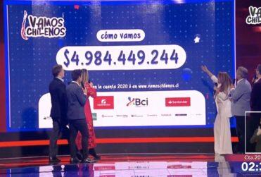 Vamos Chilenos recaudó casi $5 mil millones en su primera jornada