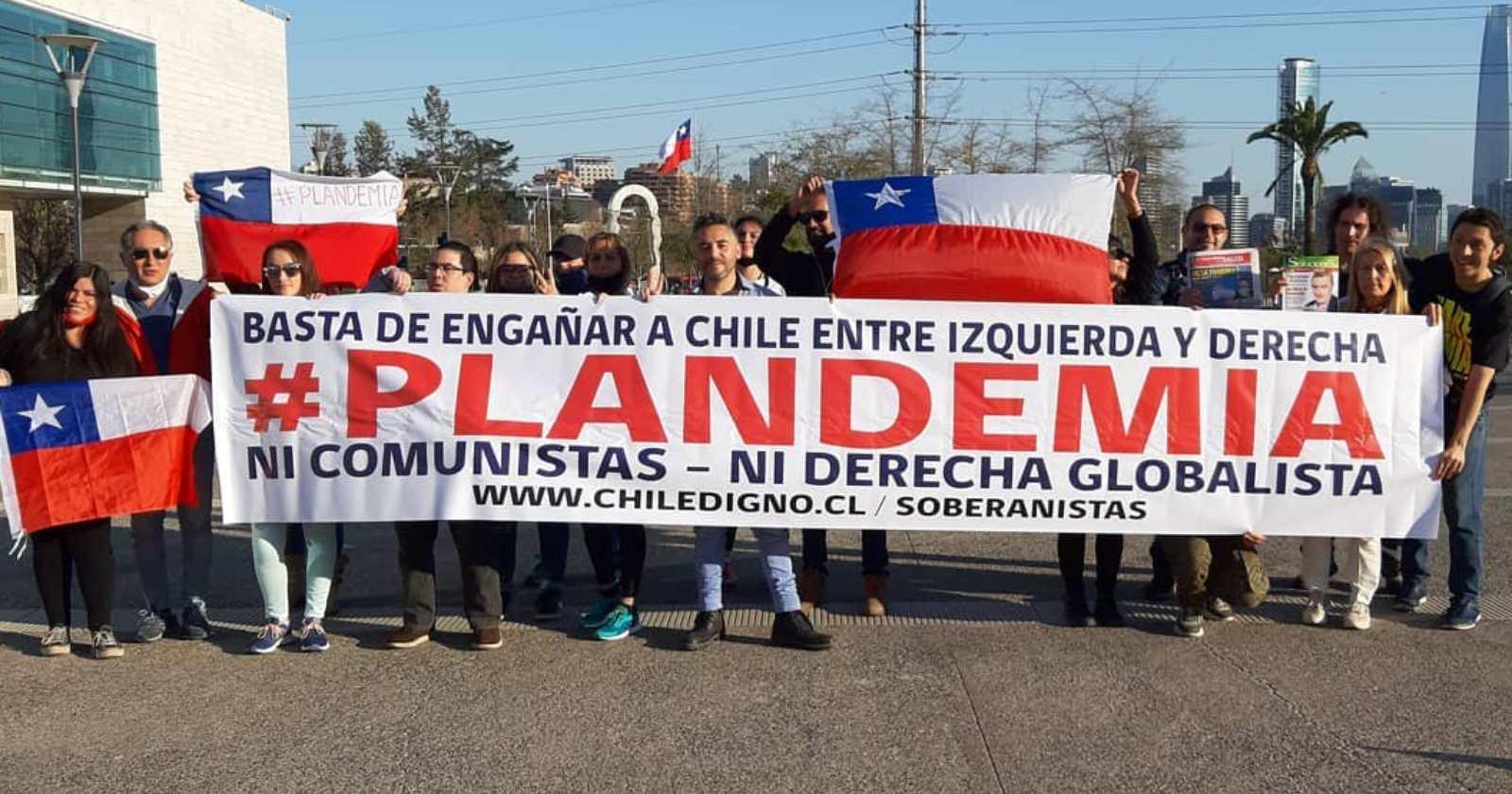 """""""Chile Digno: el movimiento que niega la pandemia y busca convertirse en partido político"""""""