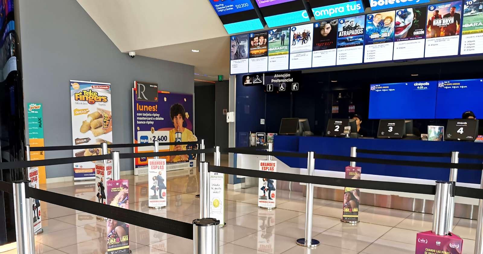 Sin comer: el protocolo del Minsal para reabrir cines en comunas en etapa 4
