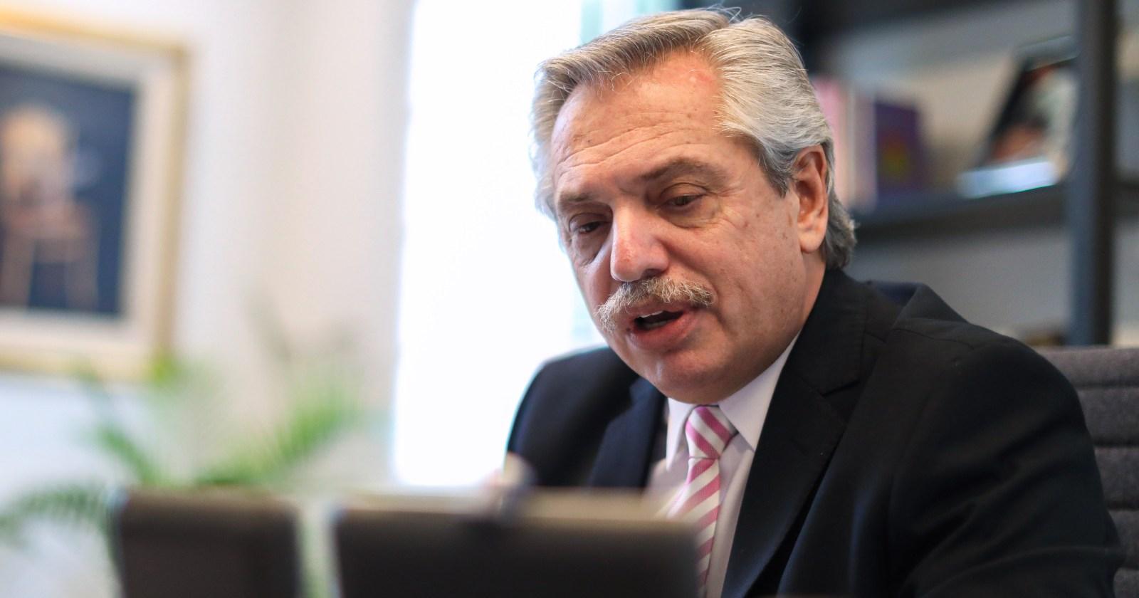 Alberto Fernández reafirmó