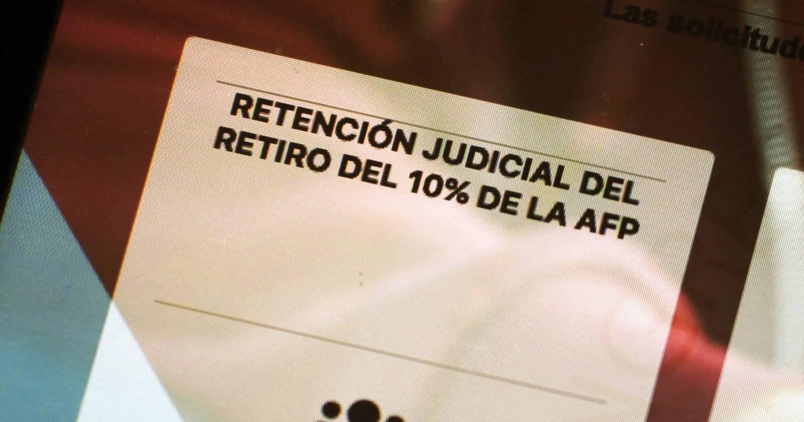 Cómo se prepara el Poder Judicial ante posible segunda retención a deudores de pensiones por retiro del 10%